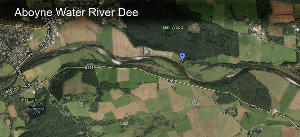 Aboyne Water River Dee Map
