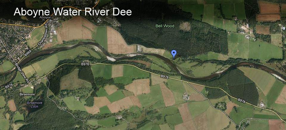 Aboyne Water River Dee Map